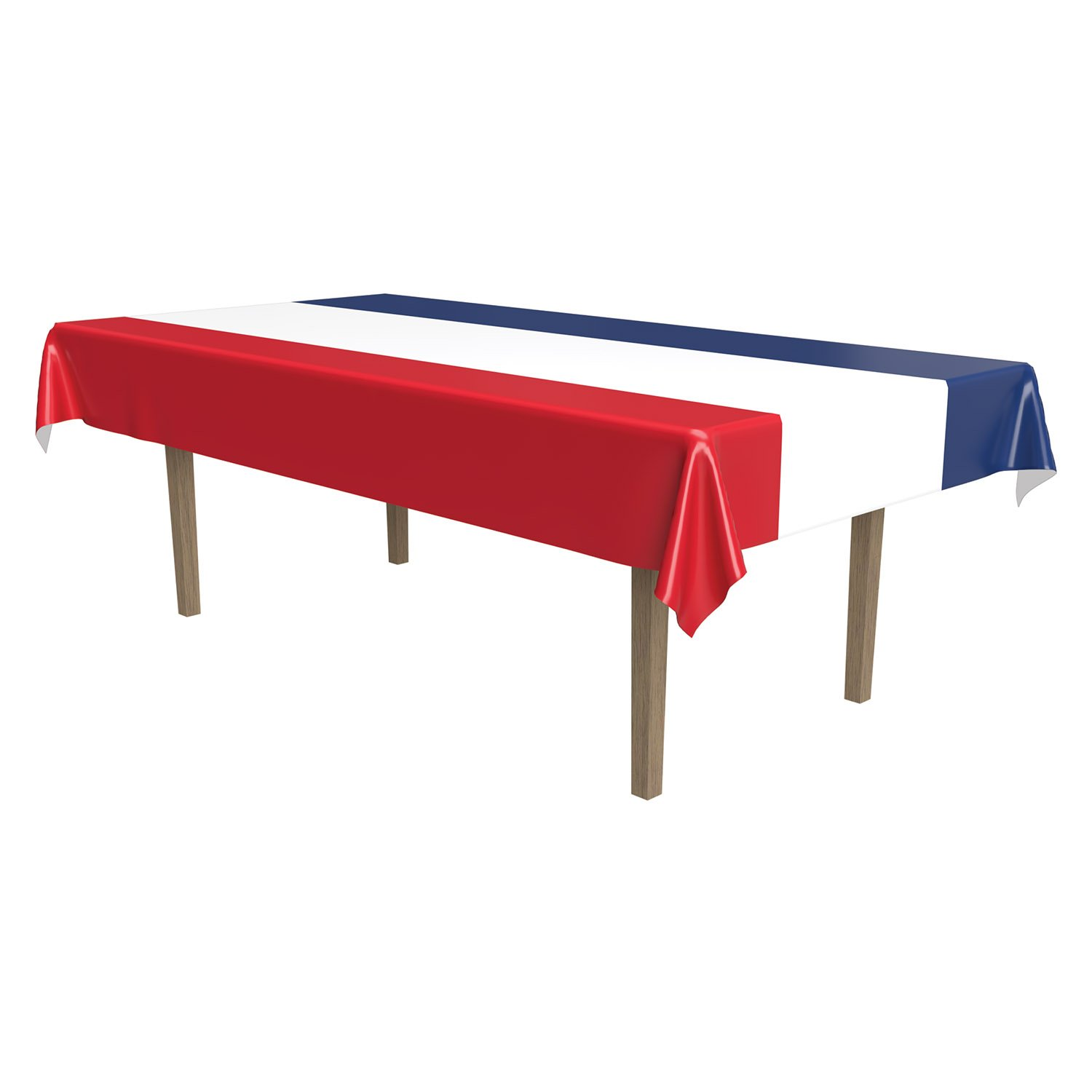 Red, White & Blue Striped Tablecover