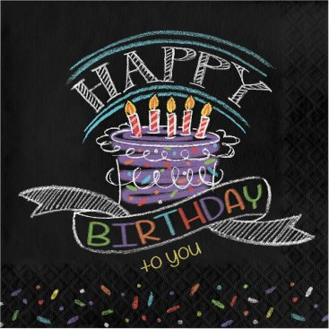 Chalk Birthday