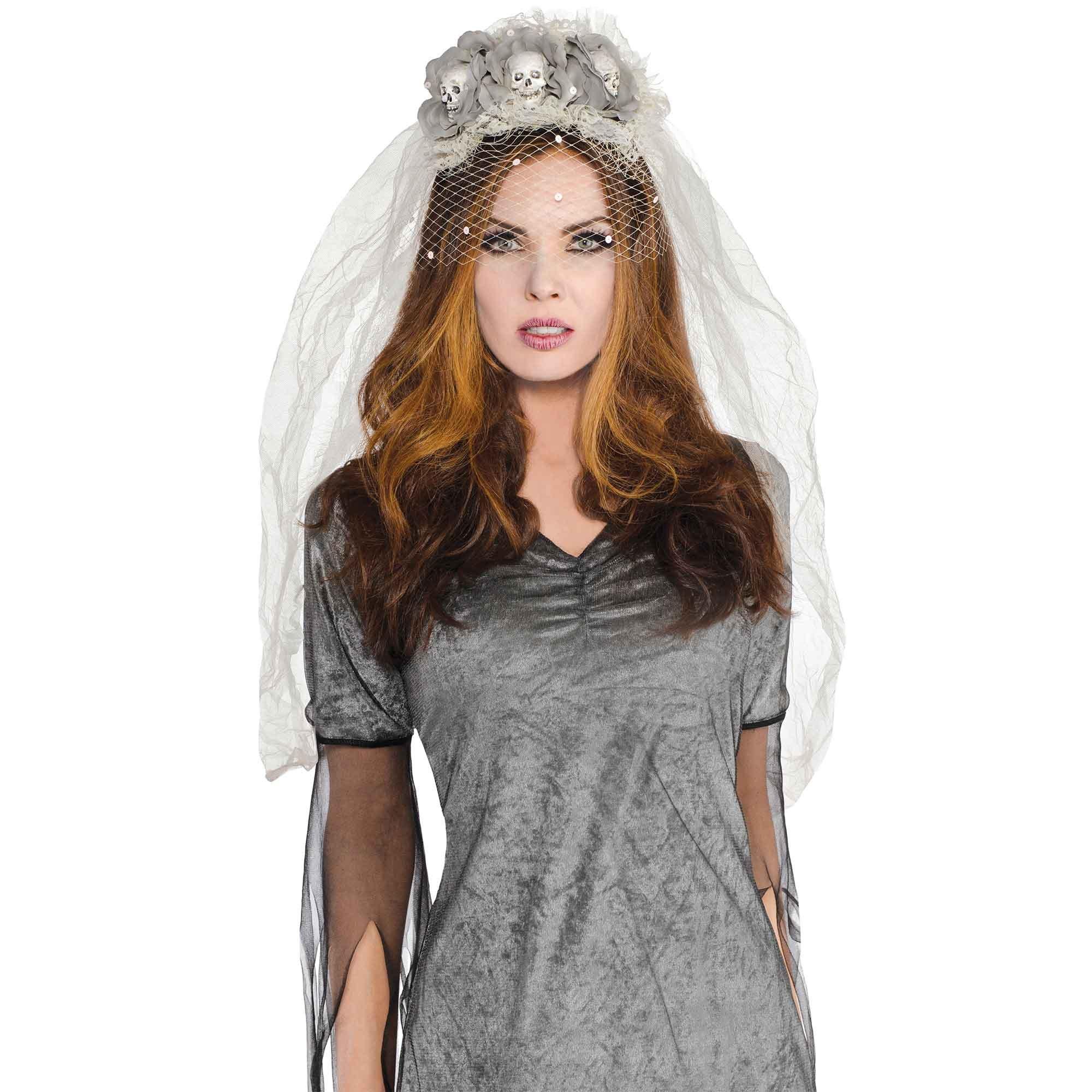 Ghost Bride Skulls Couture Headband