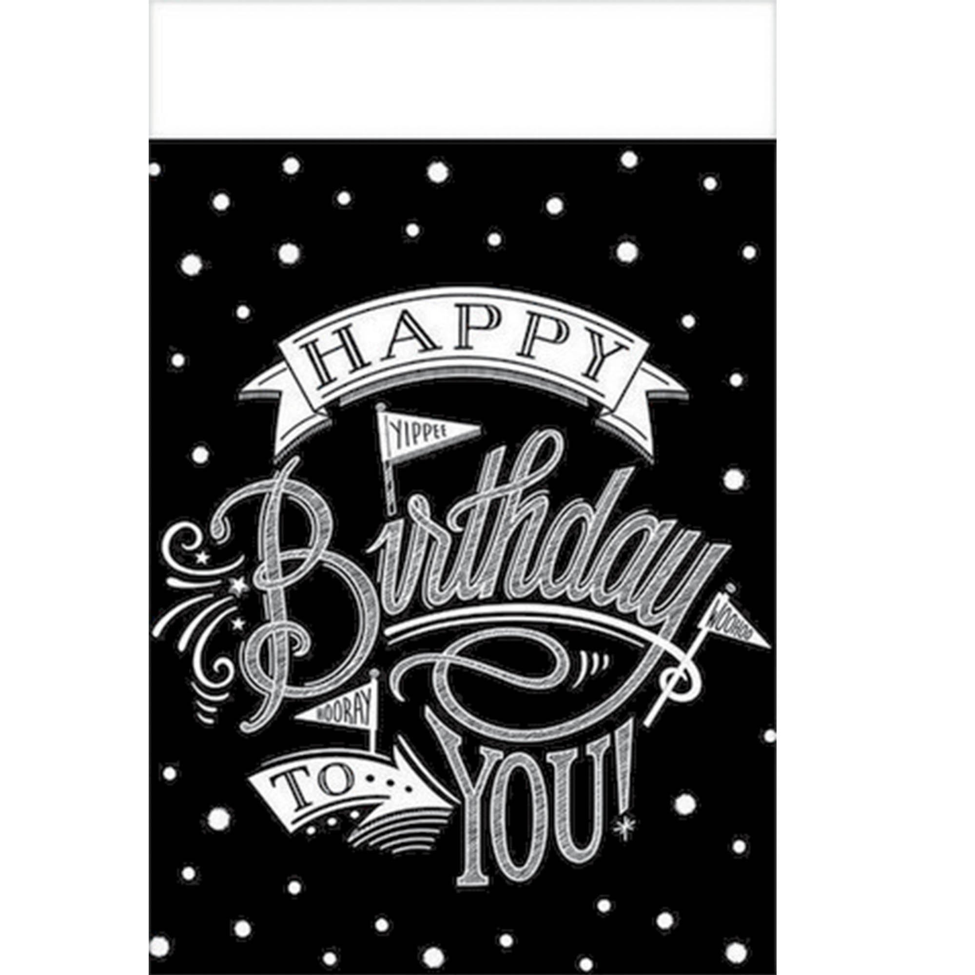 Hooray, It's Your Birthday Tablecover Plastic