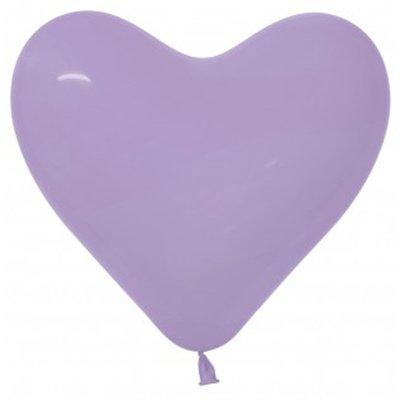 Sempertex 15cm Hearts Fashion Lilac Latex Balloons 050, 50PK