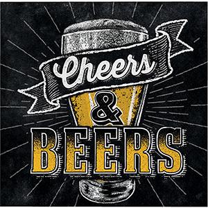 Cheers & Beers Beverage Napkins