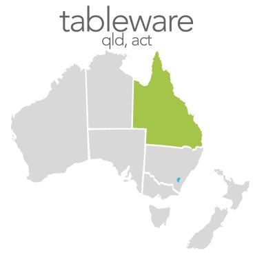 Tableware - QLD, ACT, SA, NT