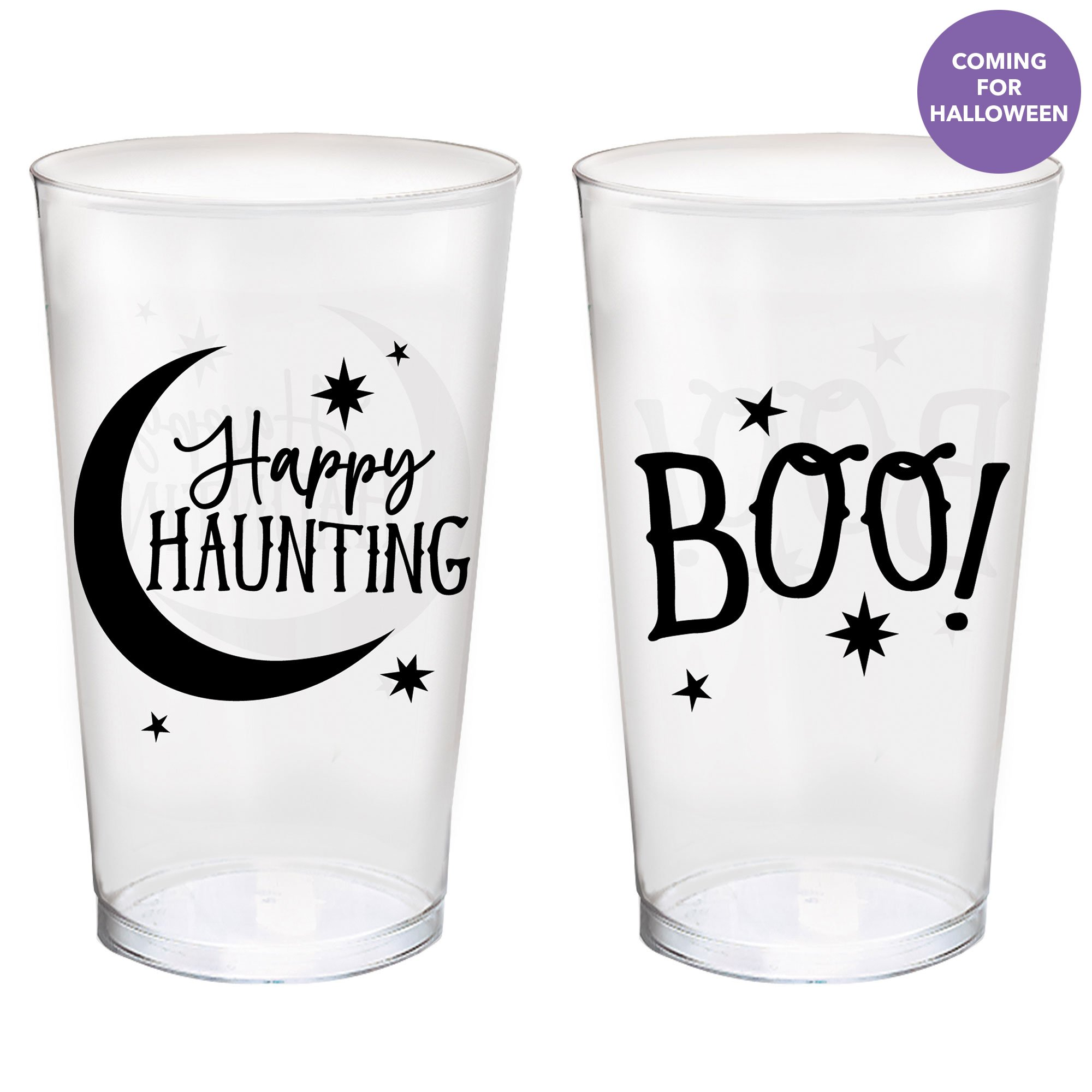 Halloween Classic Black & White 473ml Tumblers Assorted Designs