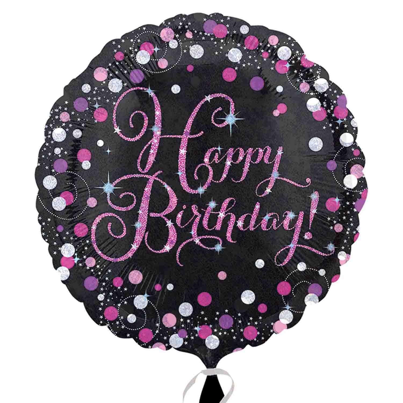 45cm Standard Holographic Pink Celebration Birthday S55