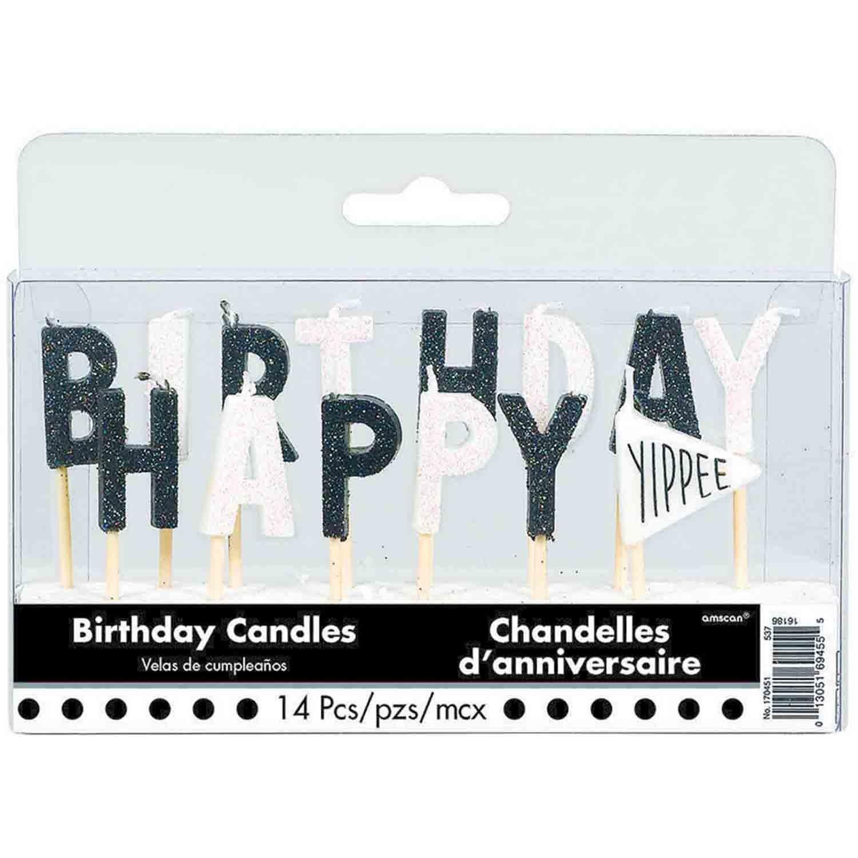 Chalkboard Happy Birthday Pick Candles