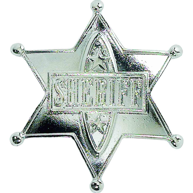 Sherriff Badge Silver
