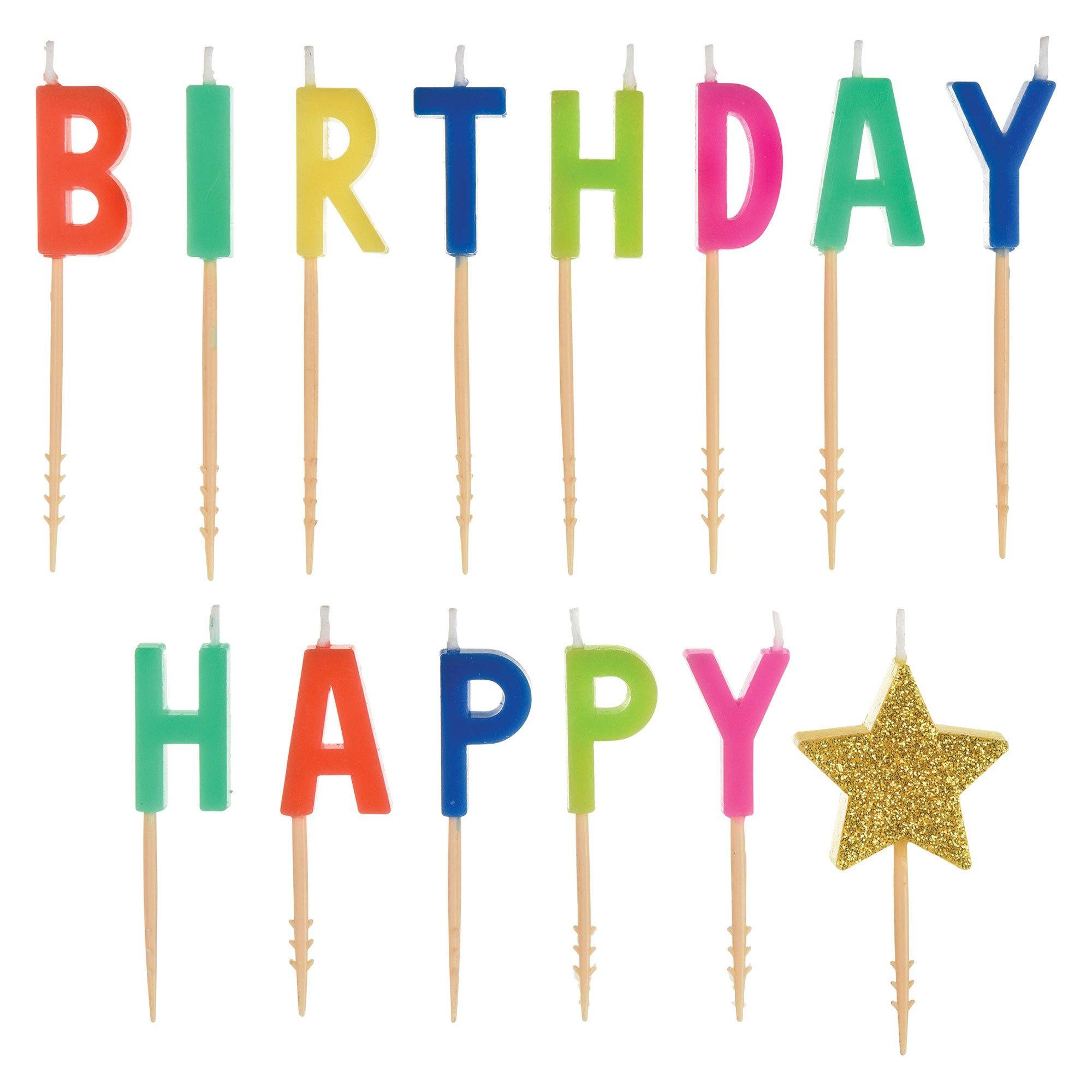 Happy Dots Happy Birthday Pick Candles