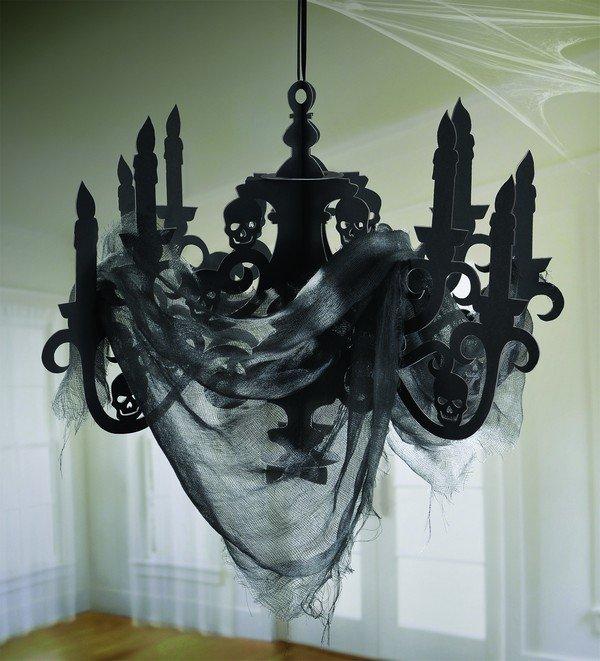 Haunted Mansion Cardboard Candelabra & Gauze Decoration