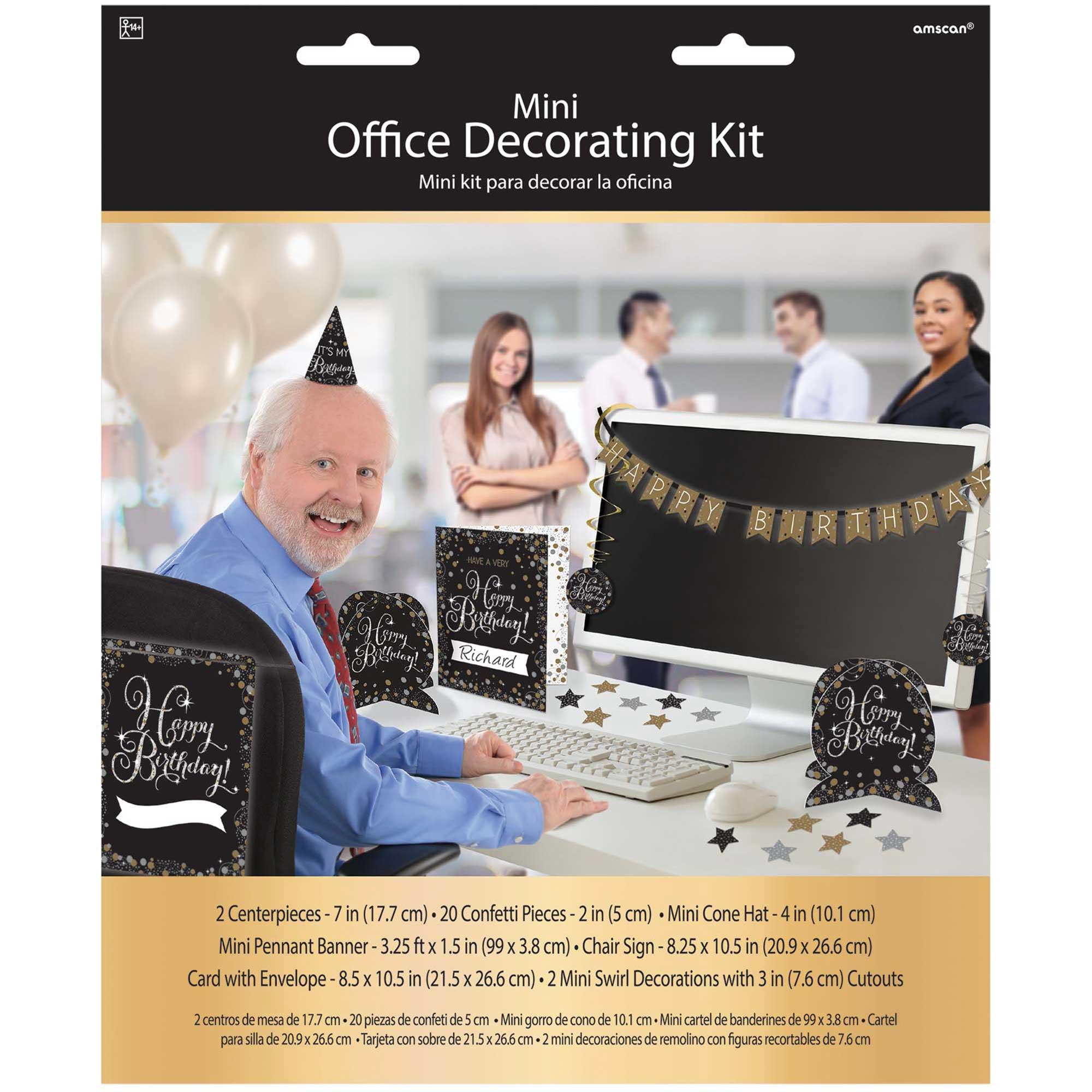 Sparkling Celebration Happy Birthday Mini Office Decorating Kit