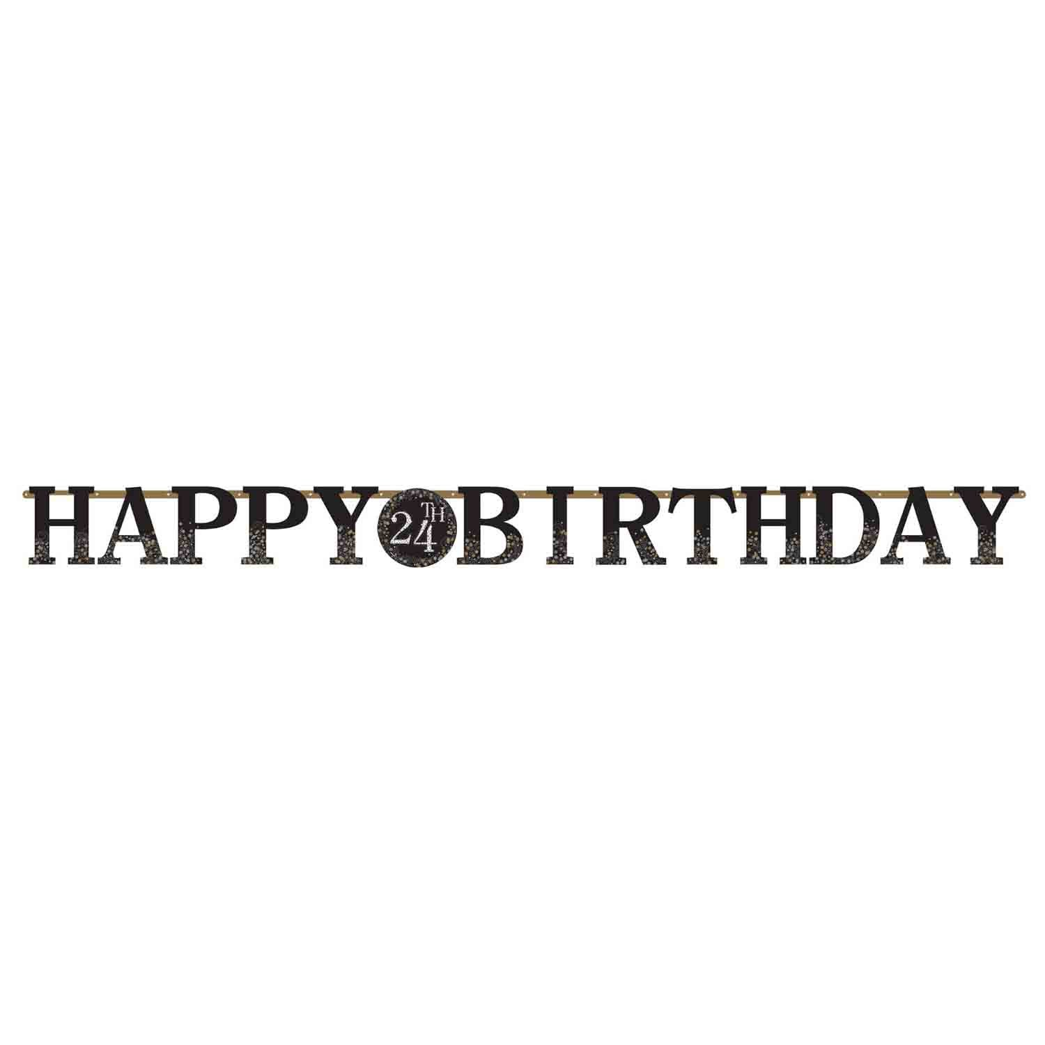 Sparkling Celebration Add Any Age Happy Birthday Jointed Jumbo Letter Banner Kit & Stickers