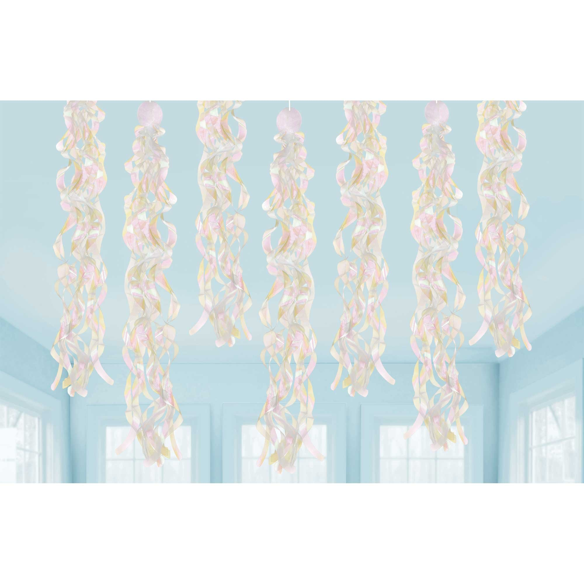 Luminous Birthday Iridescent Swirls Hanging Decorations