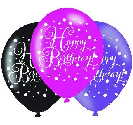Pink Celebration Happy Birthday 30cm Latex Balloon