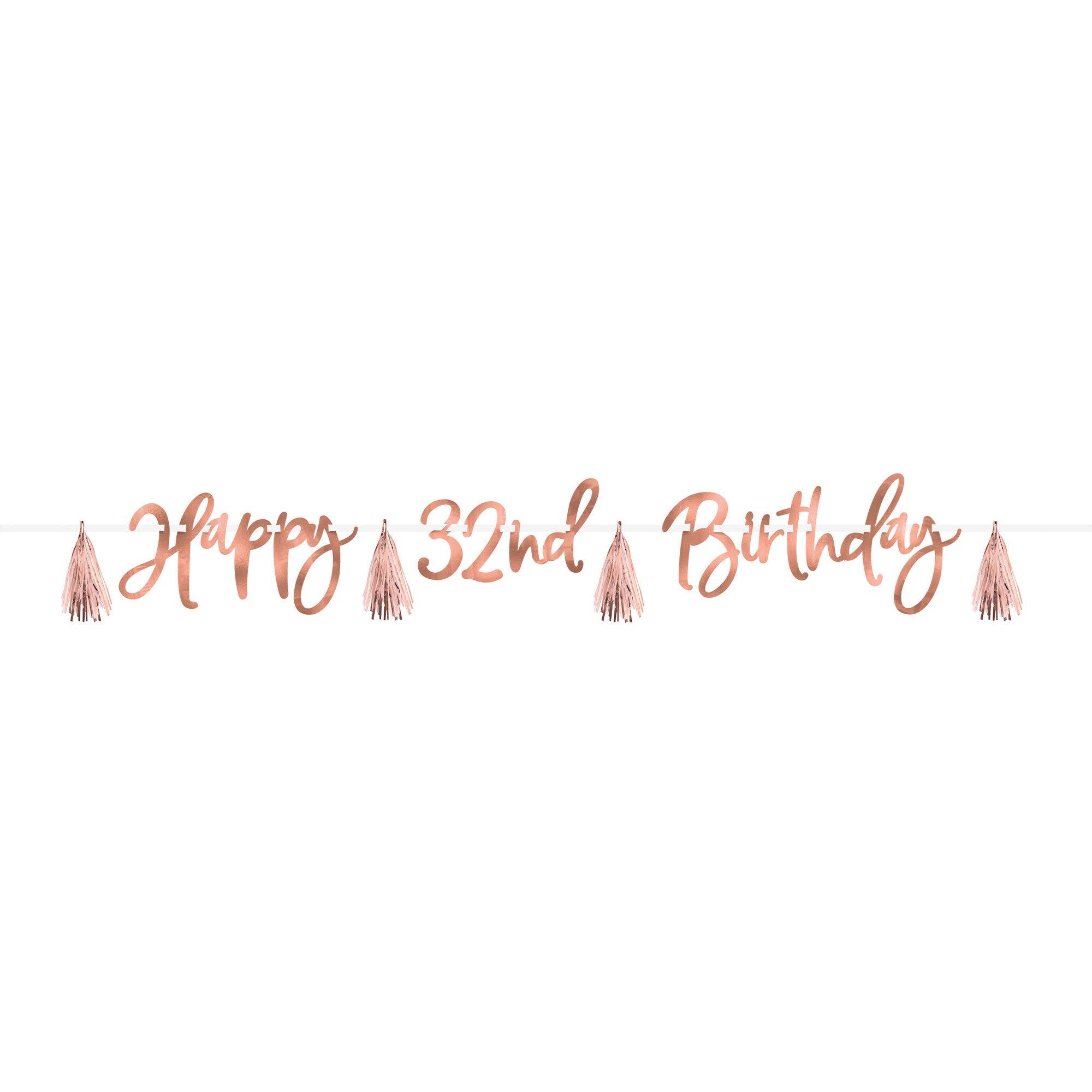 Blush Birthday Customize It Foil Banner Kit
