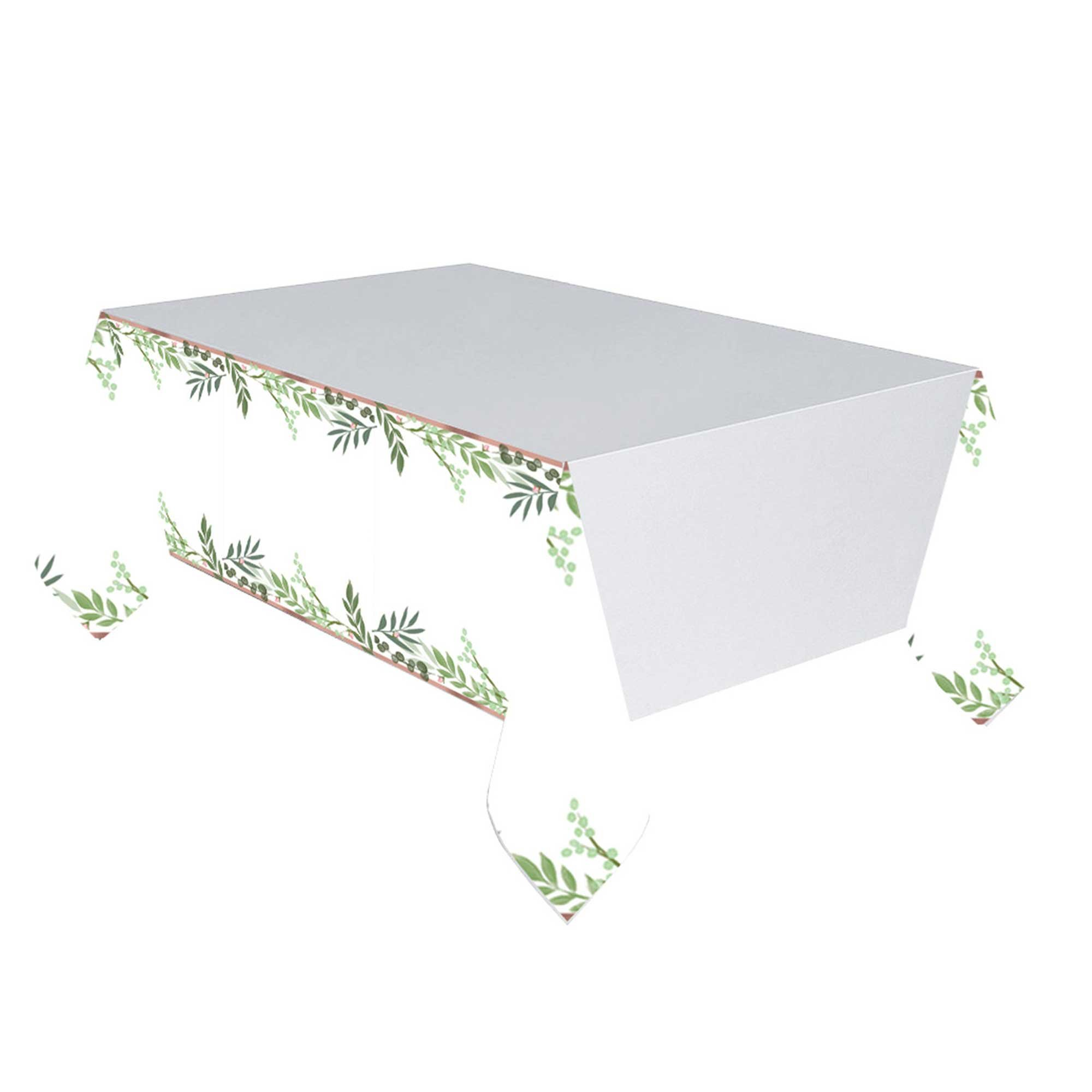 Love and Leaves Paper Tablecover