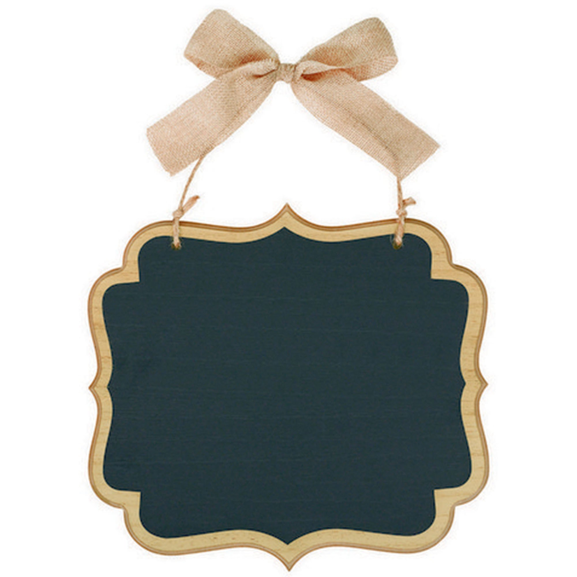 Chalkboard Sign MDF Large Marquee Sign - Natural & Twine Bow Hanger