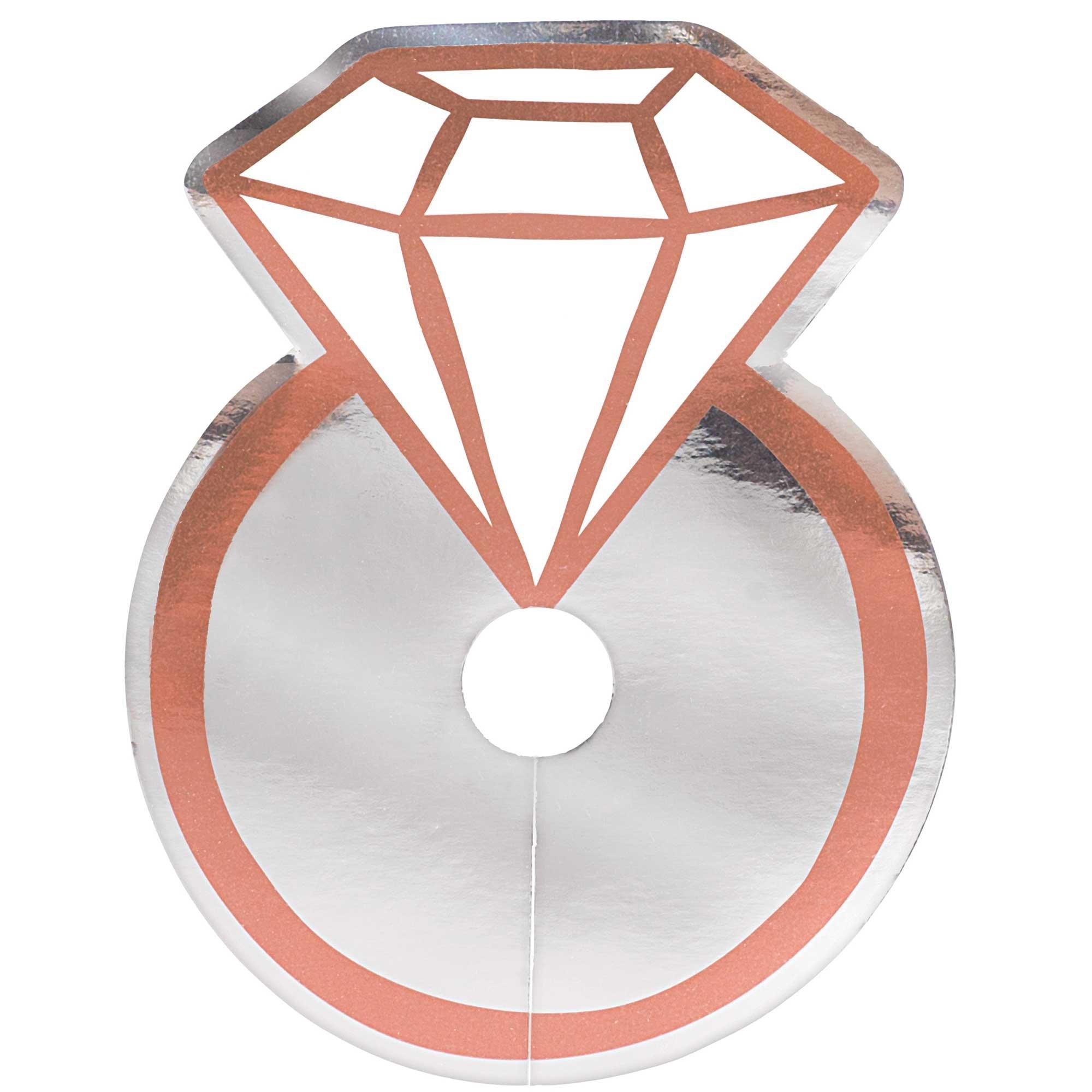 Navy Bride Diamond Rings Glass Tags