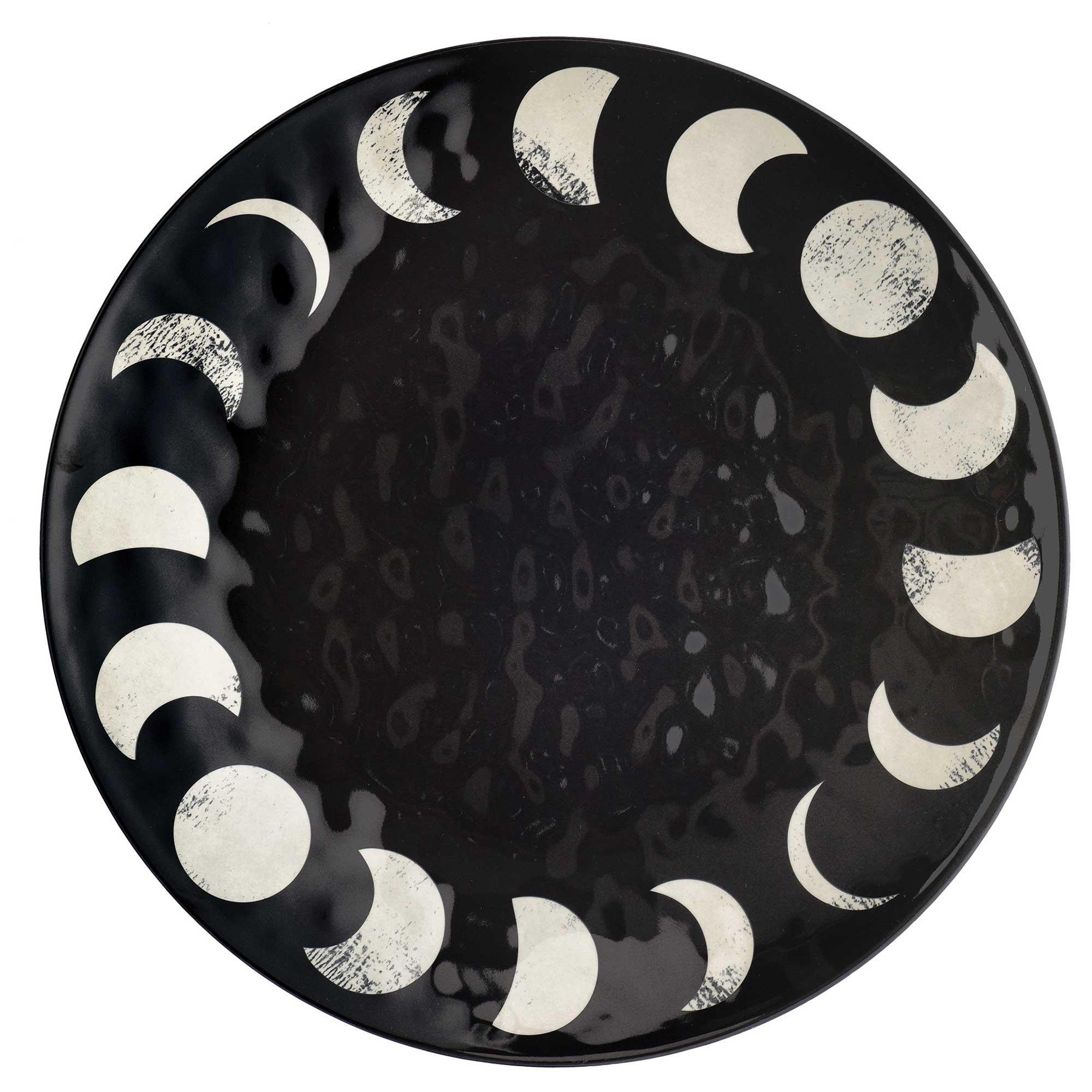 Halloween Classic Black & White Melamine Platter