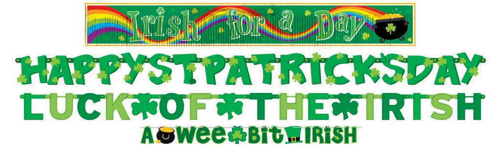 St Patrick's Day Value Pack Banners