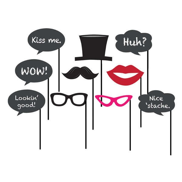 Chalkboard Photo Booth Props Assorted Designs