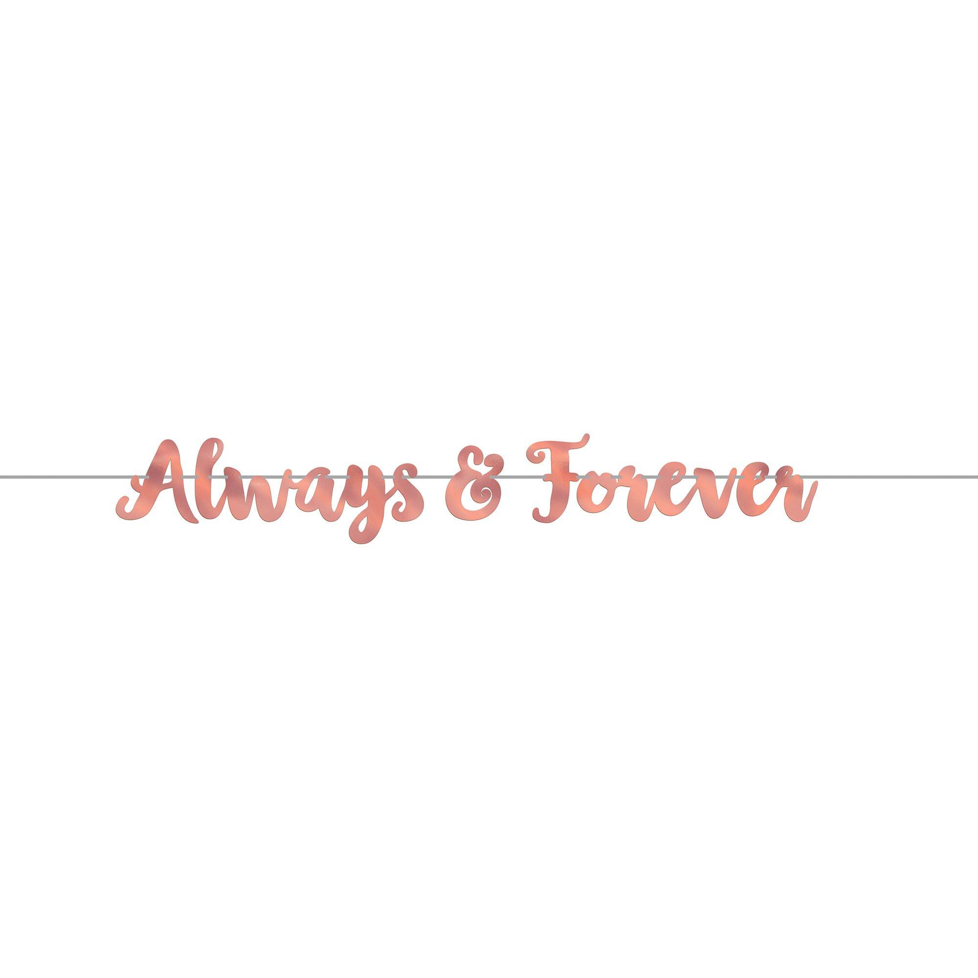 Navy Bride Foil Letter Banner Always & Forever