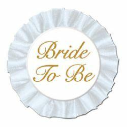 Bride To Be Button Satin Badge