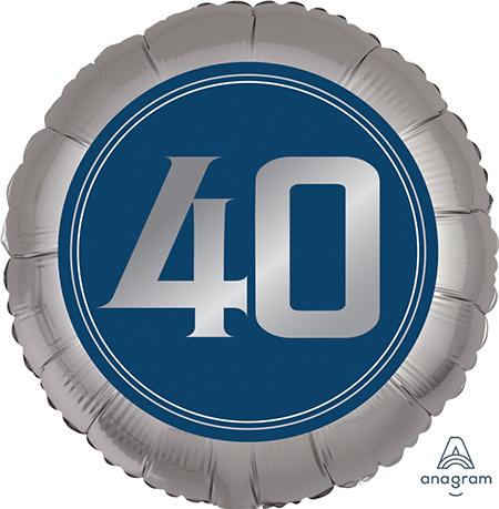 45cm Standard XL Happy Birthday Man 40 S40