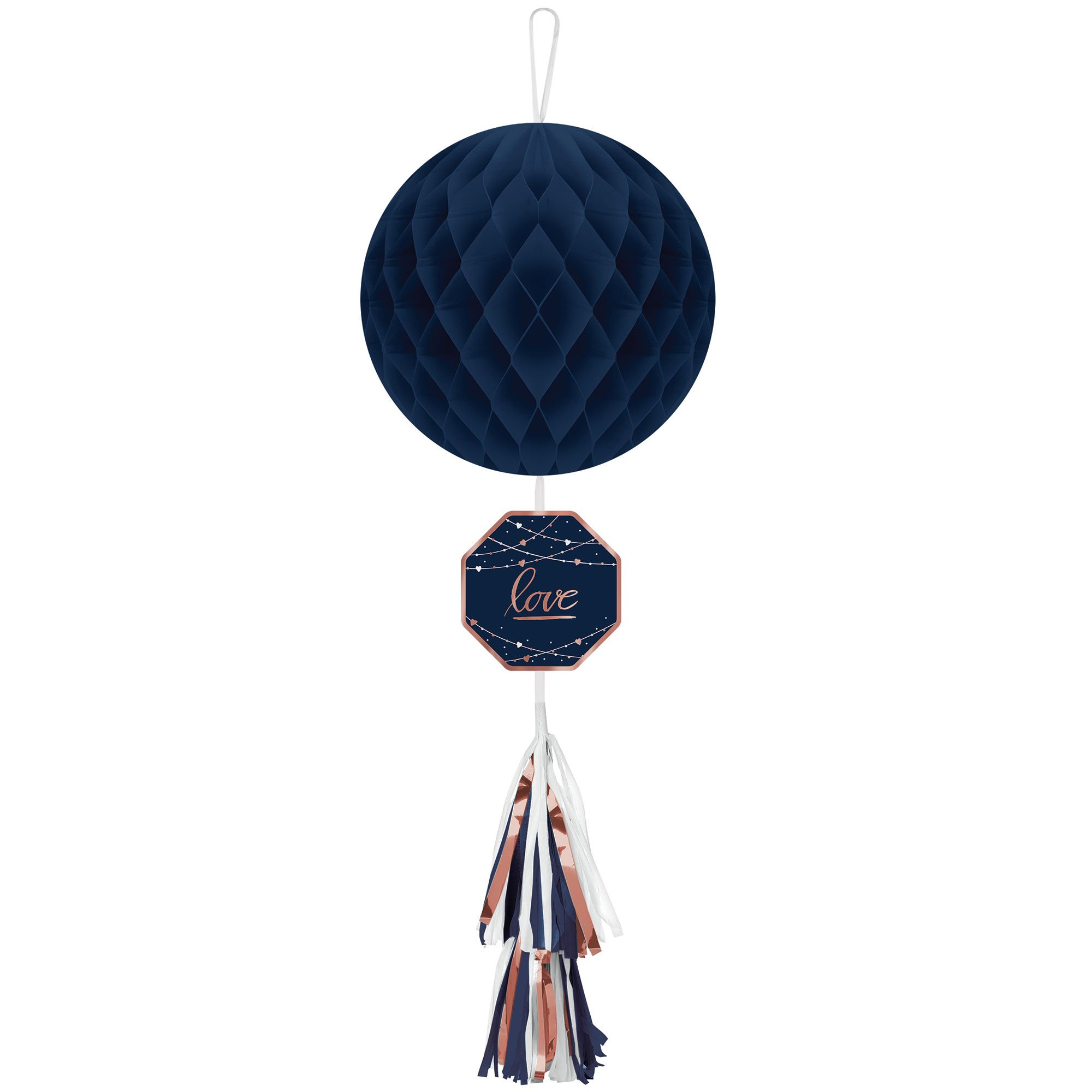 Navy Bride Honeycomb Hanging Decoration & Tail