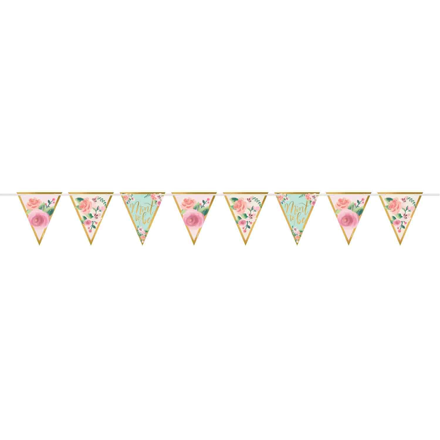 Mint to Be Pennant Banner