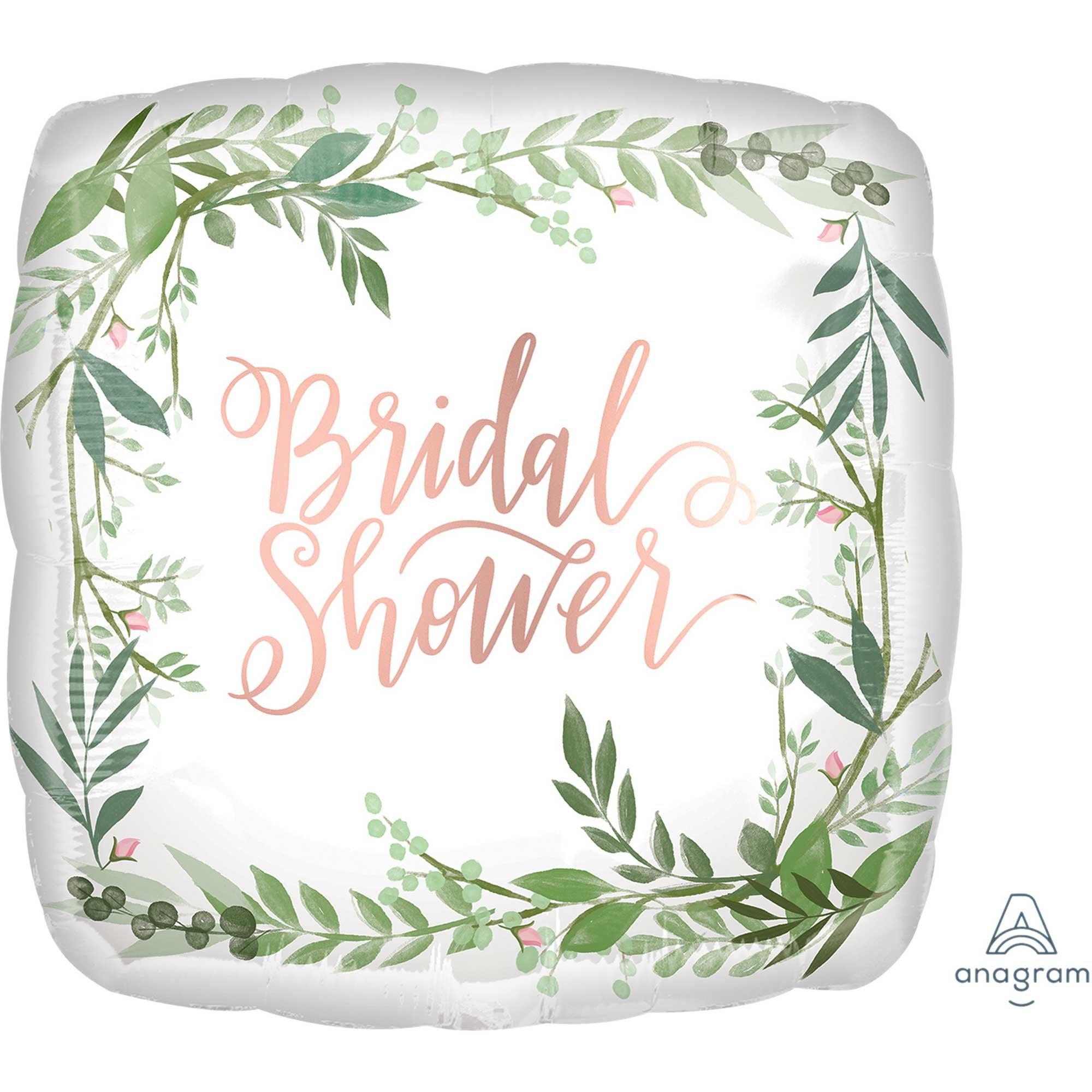 45cm Standard XL Love & Leaves Bridal Shower Satin S40