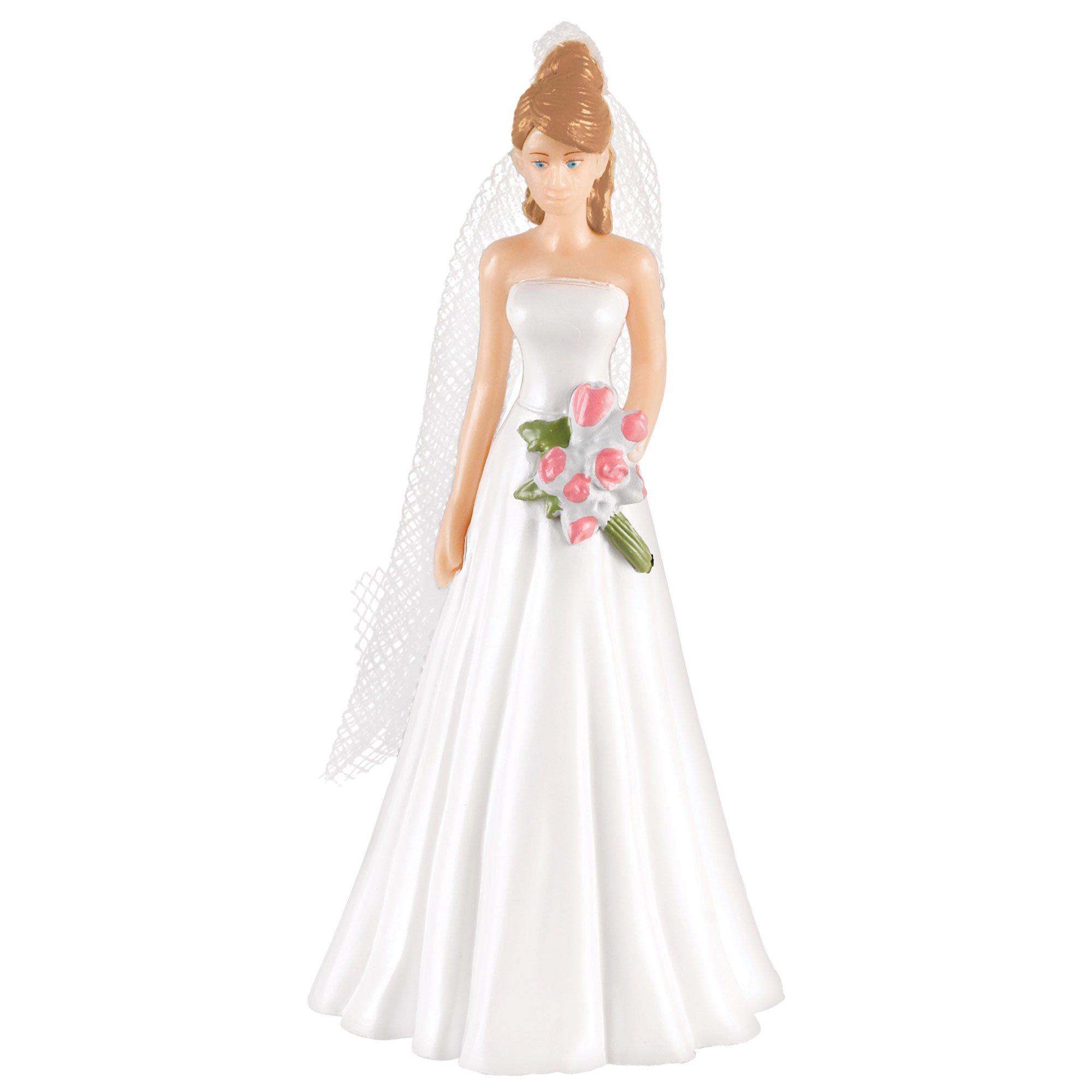 Cake Topper Bride & Light Brown Hair