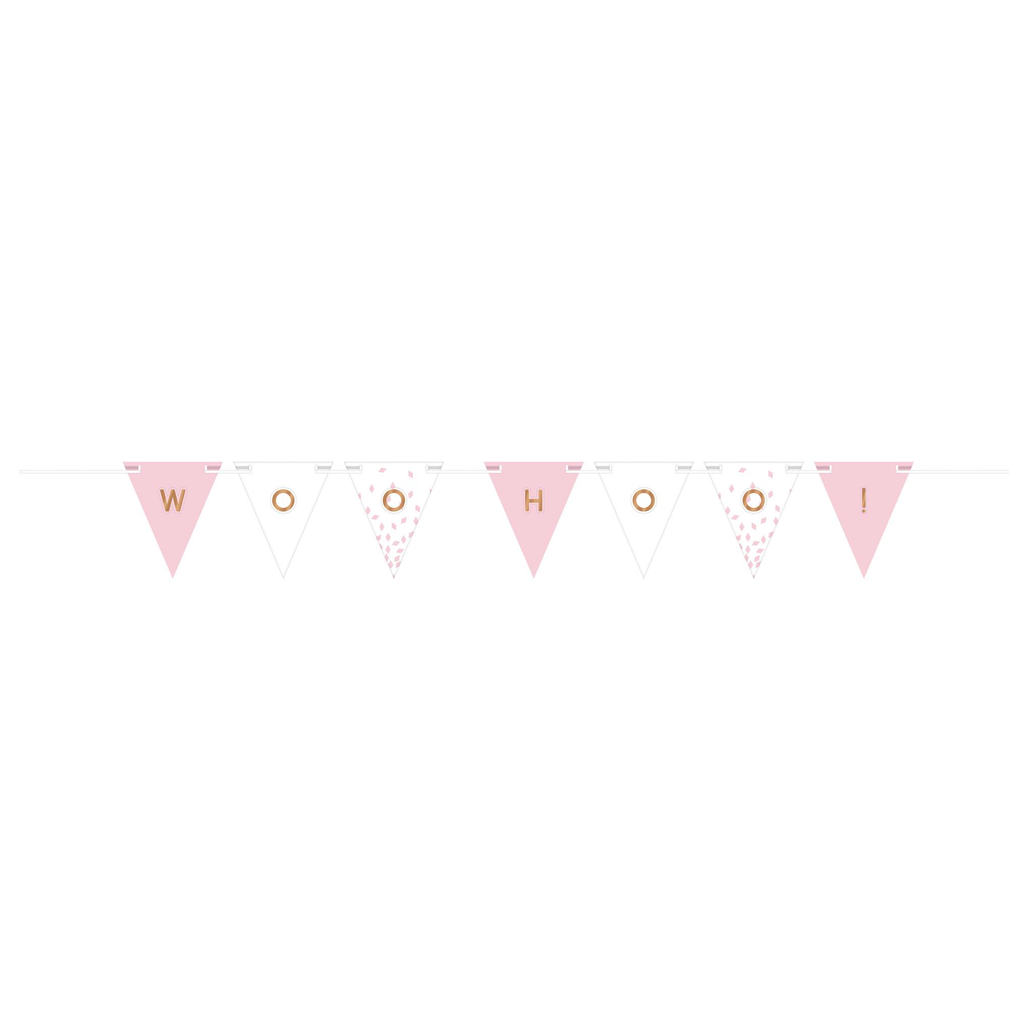 Rose Gold & Blush Customisable Ribbon Pennant Banner