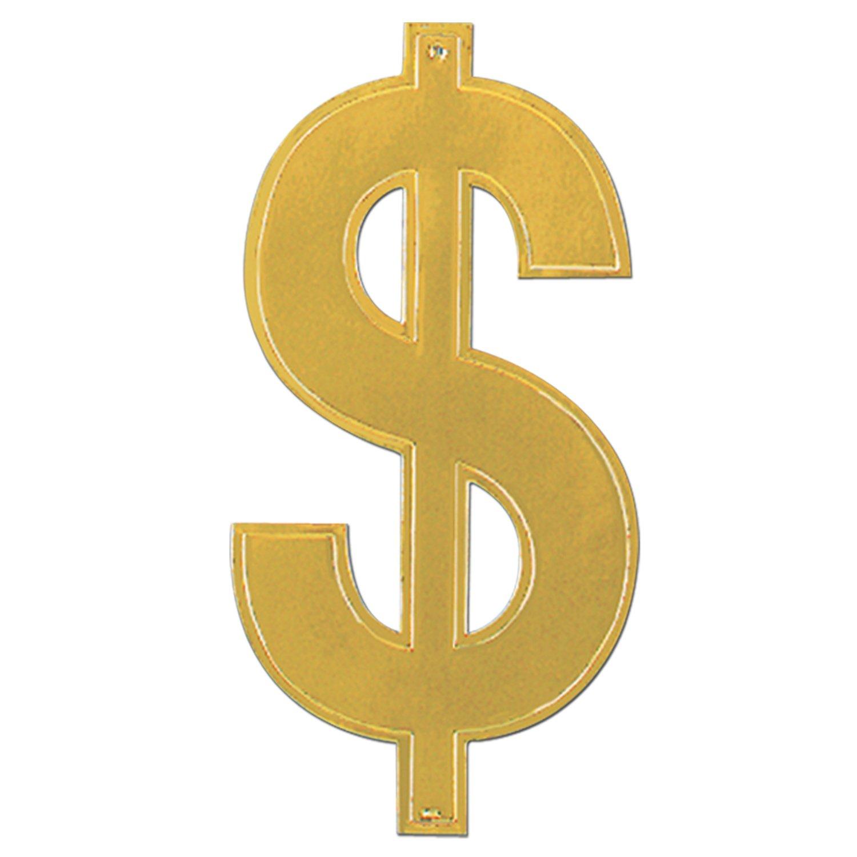 Dollar $ Sign Gold Foil Cutout