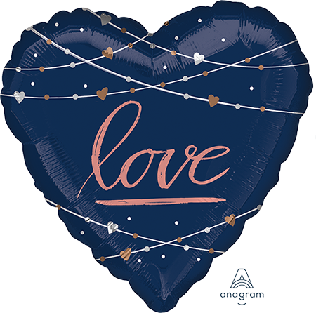 Jumbo HX Heart Navy Wedding love P32