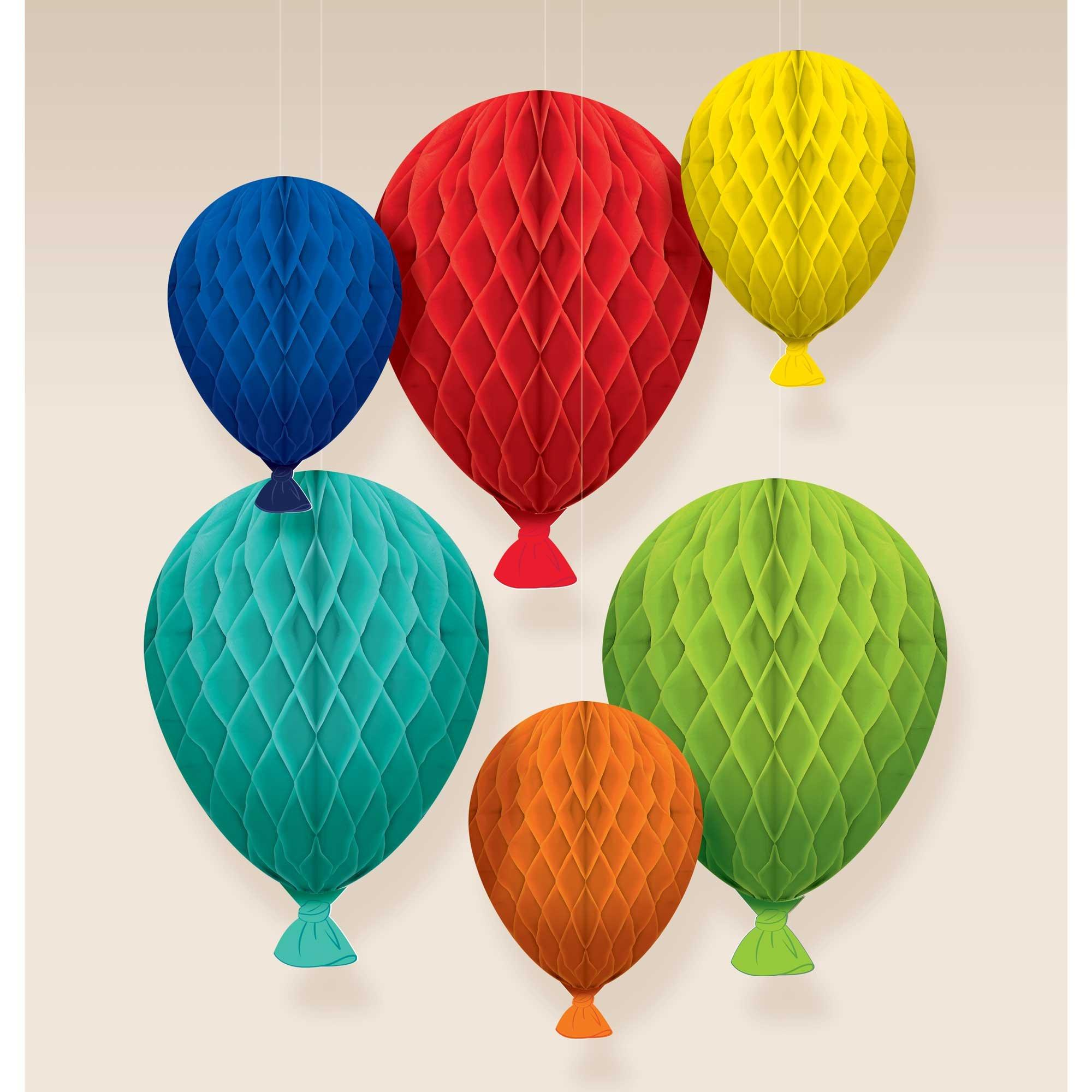 Birthday Celebration Honeycomb Balloons Hanging Decorations