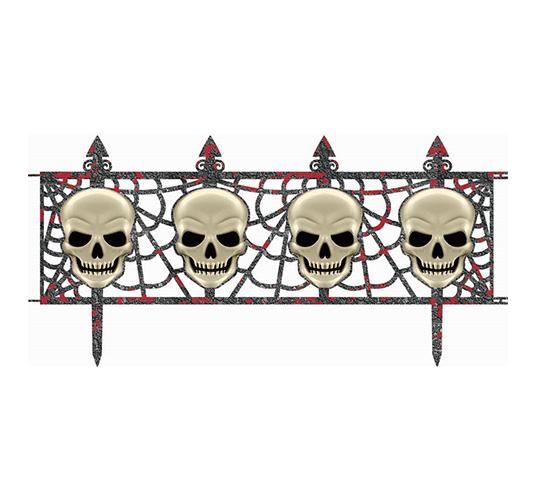 Skull Fence Decorations Multipack