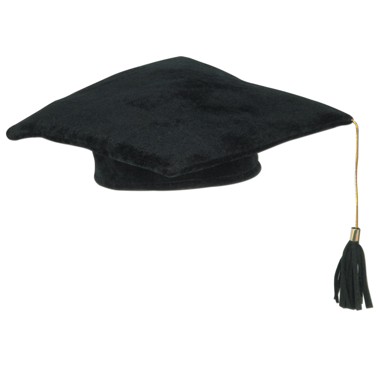 Graduation Plush Black Cap with Tassel