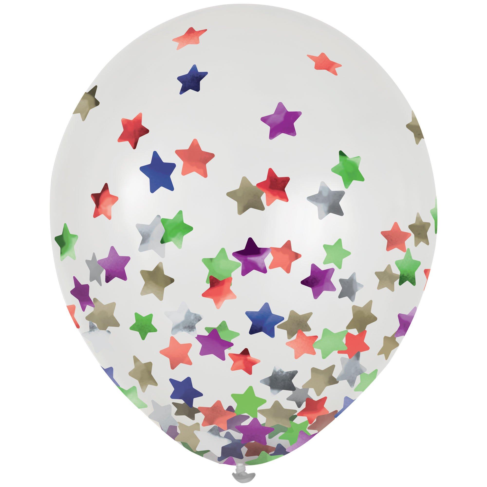 Latex Balloons 30cm & Confetti Stars