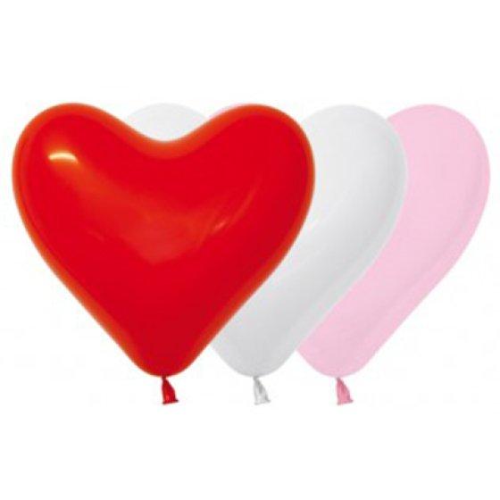 Sempertex 28cm Hearts Sweetheart Fashion Assorted Latex Balloons, 12PK