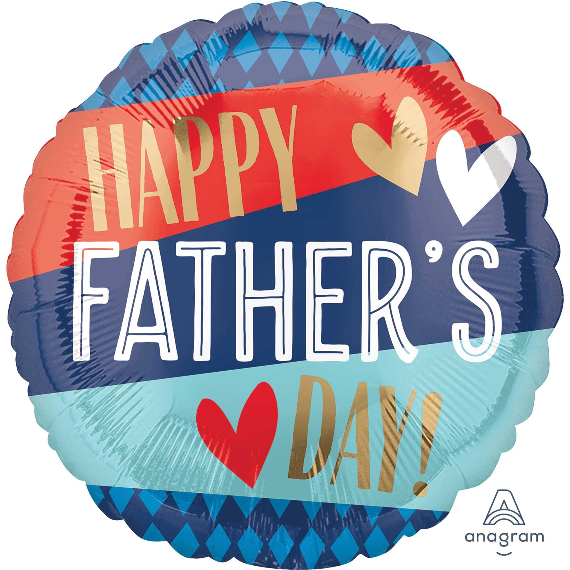 45cm Standard HX Happy Father's Day Stripes & Argyle Pattern S40