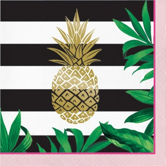 Pineapple Wedding Lunch Napkins Foil Stamped