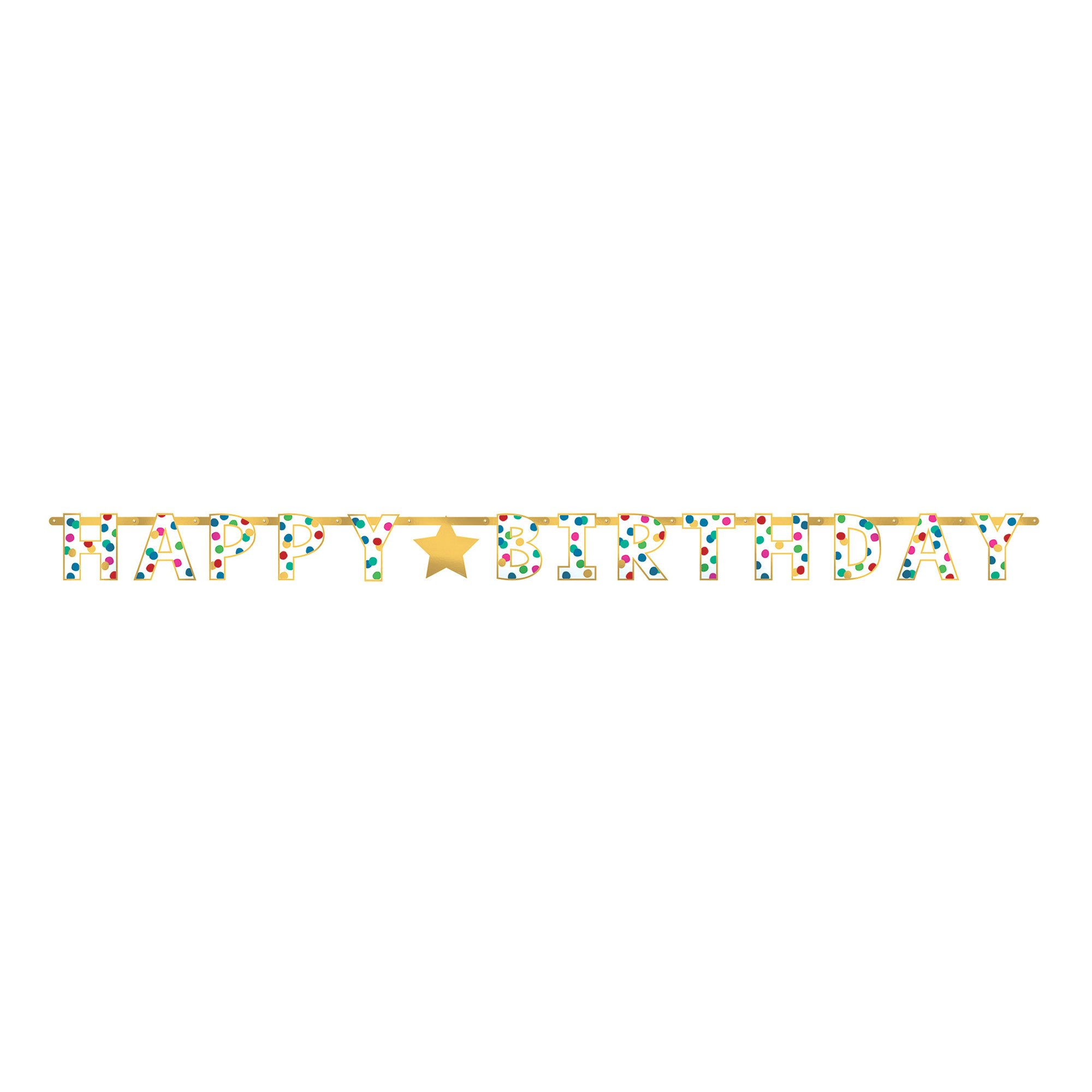 Happy Dots Happy Birthday Foil Letter Banner