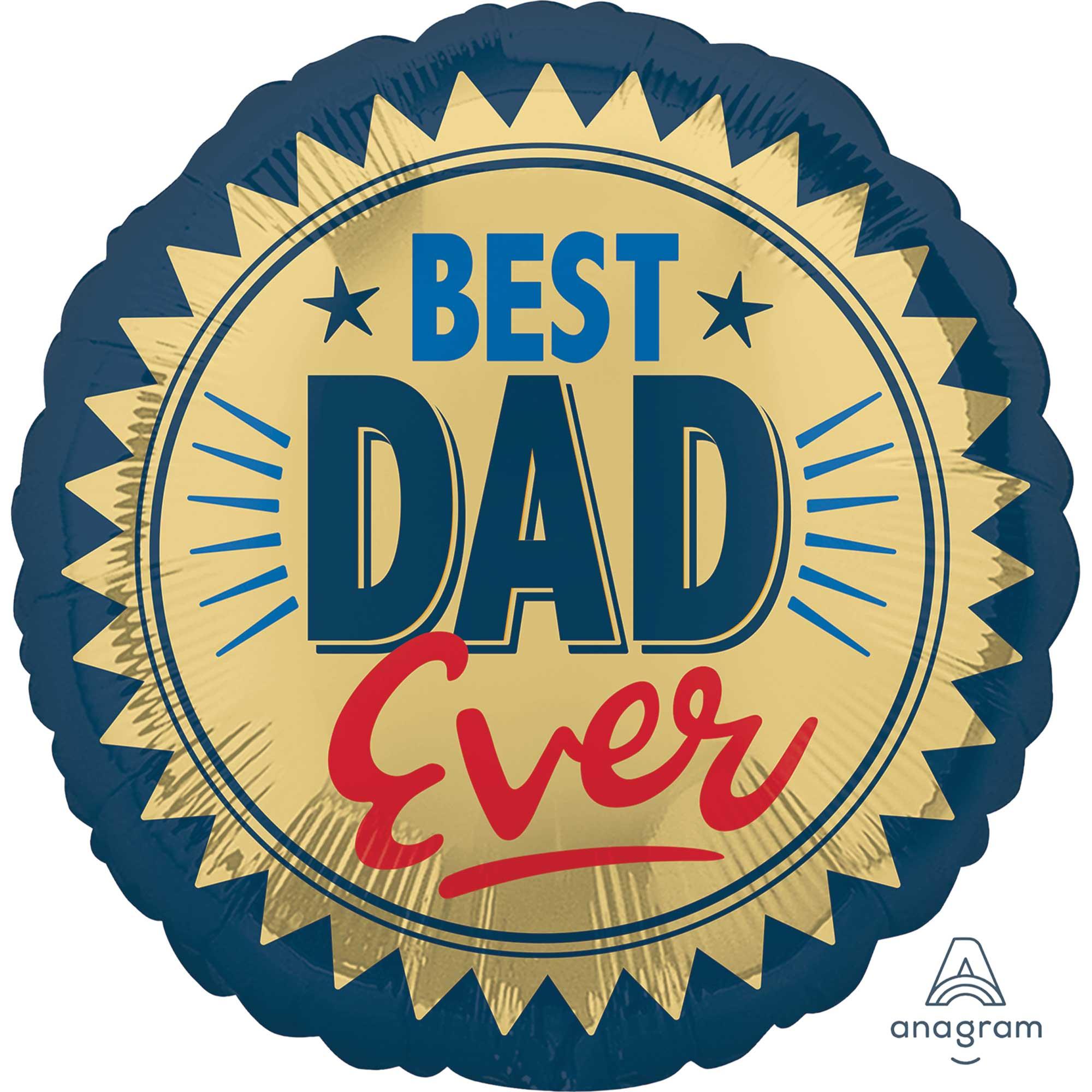 45cm Standard HX Best Dad Ever Gold Stamp S40